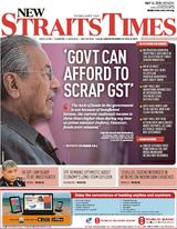 New Straits Time 14 May 2018