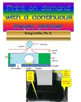 Print on demand (POD) with a continuous inkjet printer
