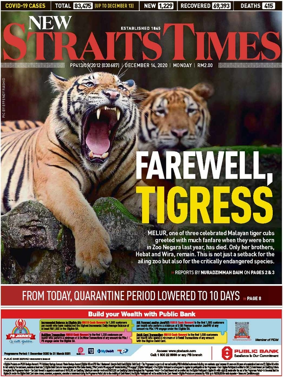 New Straits Times 14 December 2020