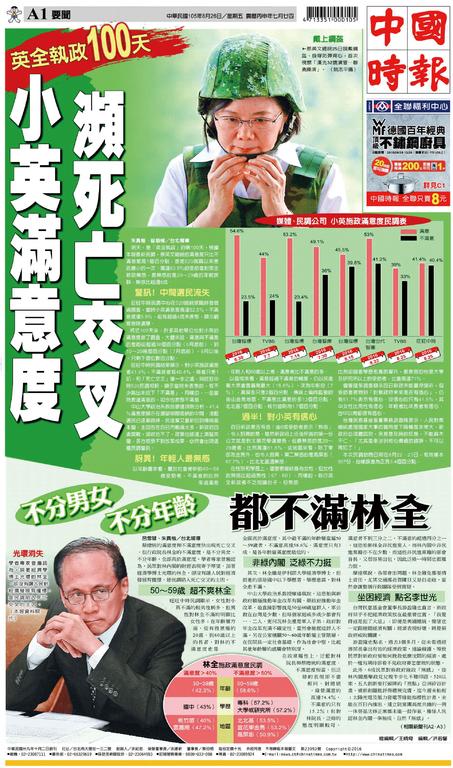 中國時報 2016年8月26日