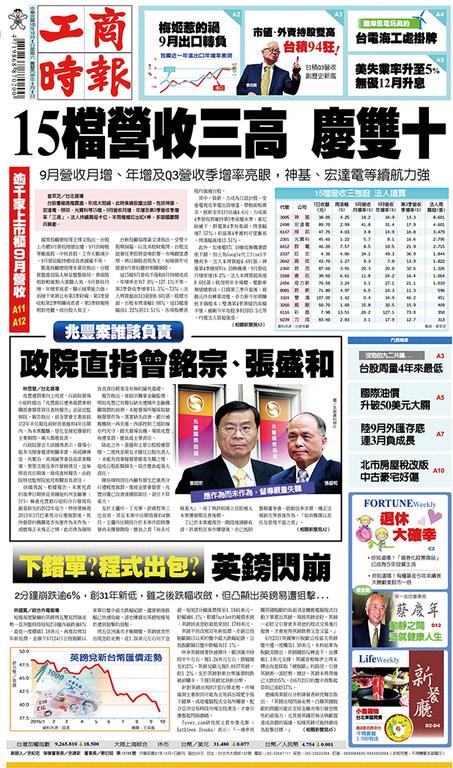 工商時報 2016年10月8日